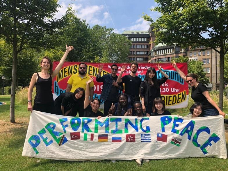 Young Activists Performing Peace
