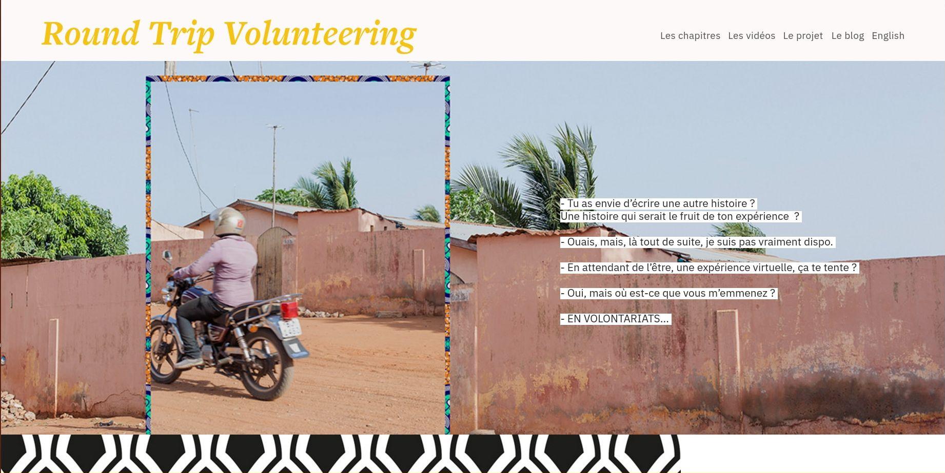 Découvrez le web-documentaire : Round Trip Volunteering